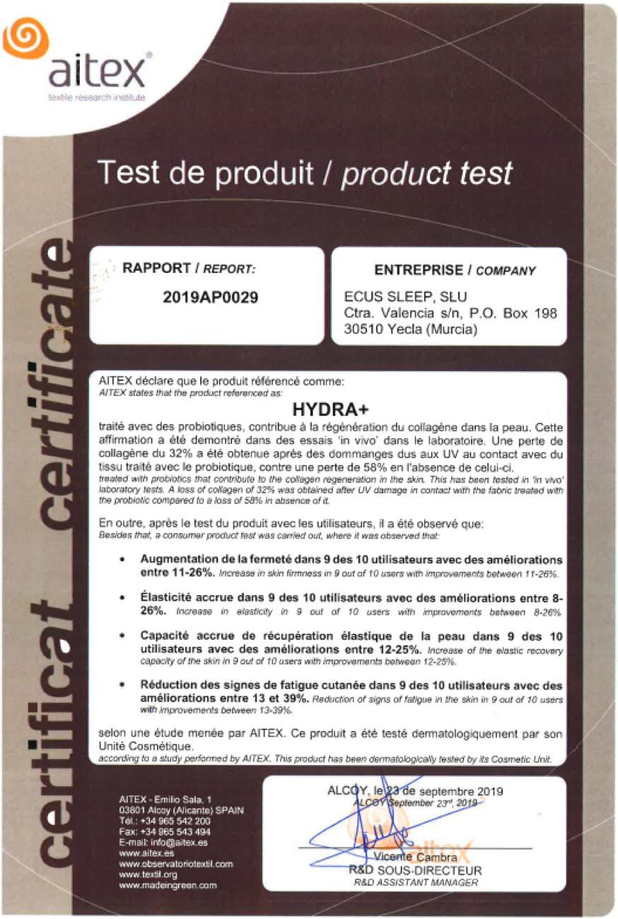 Certificat Hydra+